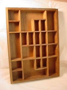 Vtg Miniatures Shelf Handcrafted Wooden Display
