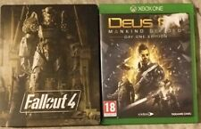 Xbox One Game Bundle - Fallout 4 Steelbook & Cards - Deus Ex Mankind Divided