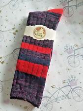 GIRLS WOMENS Winter Cotton Blend Boot Socks Knit Weave Long Warm Thick 1 PAIR B2