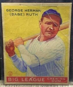 1933 Babe Ruth Goudey #53 Big League