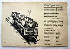 DDR Kleine Typensammlung Schienenfahrzeuge - Schnellzuglokomotive (Reko)