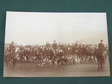 The Fox Hunt w Horses and Dogs - antique RPPC