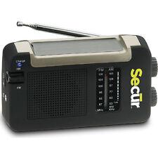 Secur Hybrid Solar Power AM FM Radio and Cell Phone Charger Emergency Tornado