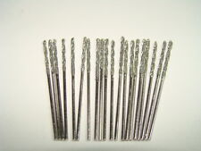 Set 1mm Diamond Coated Twist Drill Bits 20 pcs. Lot Fits Dremel Jewelry Stones