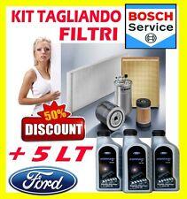 KIT TAGLIANDO 4 FILTRI FORD FIESTA V 1.2 + 5LT FORD FORMULA 5W30