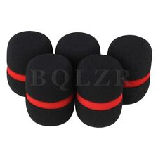 BQLZR Sponge Foam Mic Protector for Handheld Wireless Microphone Set of 5 Black