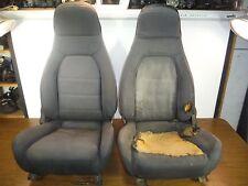 #1 Miatamecca Used Seat Set Black Cloth 90-93 Mazda Miata MX5 NA0157150B OEM