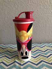 Tupperware Disney Minnie Mouse Tumbler 16oz  Flip Top Red Black New
