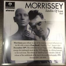 MORRISSEY - SATELLITE OF LOVE LIVE -PROMO CD  - Mint