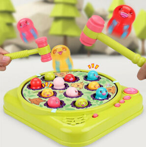 Baby Electric Whack-A-Mole Pounding Knocking Hamster Music Interactive Game Gift