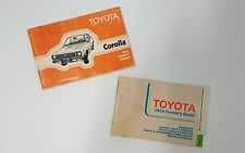 Vintage 1979 79 Toyota Corolla Owners Manual and Guide Service Parts Coupe