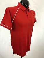 JACK NICKLAUS Mens Golf Polo Shirt Size S Red Performance Polyester S/S Casual