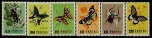 CHINA, Scott # 1183-1188, ( No Gum)  BUTTERFLIES, Value $ 22.00