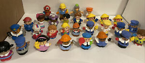 Lot of 29 Fisher Price Little People Figures Girl Boy Little Tikes 1997, 2000's