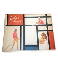 Vintage Mod Barbie Francie Mondrian Doll Vinyl Case Large 1965 Mattel Pouches