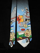 Looney Tunes 1997 Stamp Collection Neck Tie Bugs Bunny Delivers the Airmail