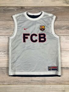 FC Barcelona FCB Vintage Reversible Jersey Singlet Tank Rare