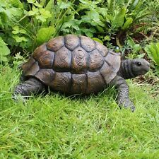 Large Realistic Tortoise Turtle Garden Animal Ornament Statue Polyresin Feature
