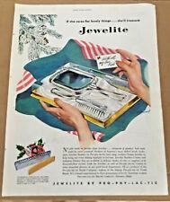 Jewelite gift print ad 1946 original vintage art Christmas illustration 1940s