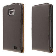 Handy tasche Samsung Galaxy S2 SII i9100 Hülle flip case cover etui schwarz
