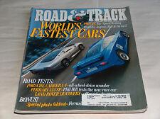 Road & track 1995 Car Truck REVISTAS world's Fastest Bugatti JAGUAR RUF FERRARI