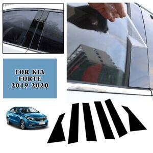 For Kia Forte 2019-2021 PC Side Door Window Center Pillar Post Cover Trim Black