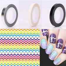 3 Colors Nail Art Striping Tape Black Silver White Manicure Stickers Lines DIY