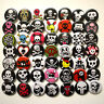 Wholesale Skulls Badges x50 - 32mm Mixed Skull Crossbone Punk Buttons Pins Lot