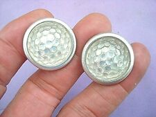 2 Vintage Jewel Domed White Reflectors, License Plate Topper, Plate Fastener(Fits: Whippet)