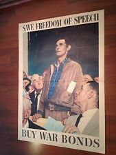 WWII 1943 Save Freedom of Speech (Original) Norman Rockwell US Gov.