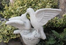 """Gartenfigur, Taubenpaar """"Turteltäubchen"""" Skulptur Steinguss, 32,5 cm Gartendeko"""