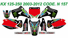 N 157 KAWASAKI KX 125-250 2003-2012 03-12 DECALS STICKERS GRAPHICS KIT