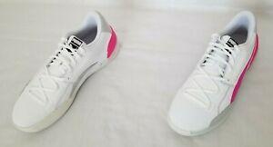 Mens Size 12 White Purple Puma Clyde Hardwood Basketball Shoes 193663-03
