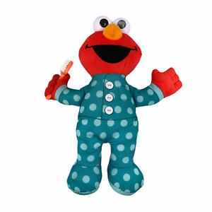 "Sesame Street Talking Elmo 12"" Plush Brush Your Teeth Hasbro Tested & Works"