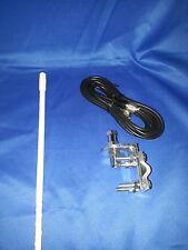 New Aries 500 Watt 2Ft White Cb Radio Antenna Kit,Coax, Bracket & Stud