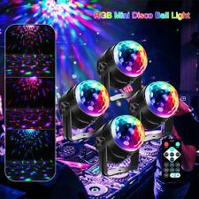 4x Lichteffekt LED Discokugel DJ Party RGB Bühnenbeleuchtung laser Licht Club EU