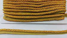 8MM TWISTED ROPE CORD, 6 COLOURS BRAID CORD PIPPING WITH EDGING