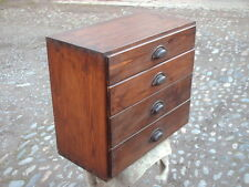 VINTAGE PINE COLLECTORS / INDUSTRIAL 4 DRAWER CHEST / CABINET
