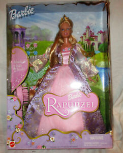 Barbie Rapunzel 2001 Doll with Musical Hairbrush NEW IN BOX!!