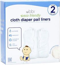 Ubbi Twin Pack Cloth Diaper Pail Liner White Brand New Sealed