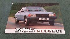 1980 PEUGEOT 305 SALOON UK FOLDER BROCHURE GL GR GRD SR