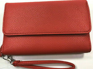 Mundi / My Big Fat Wallet / Grain Leather / RED / Safe Keeper NIB / Reg $44