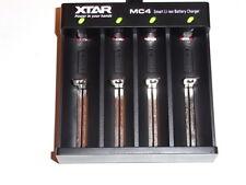 1 XTAR 18650/18500/18350 charger/caricabatteria  MC4 1000/2000mAh  4 service led