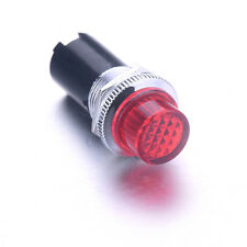 1Pc Pilot Panel Led Signal Warning Indicator Light RED Light Bulb AC220V 16mm