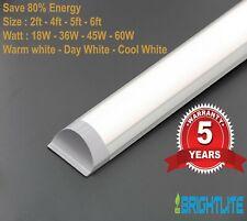 LED BATTEN SLIMLINE TUBE LIGHT WALL OR CEILING MOUNT 4ft 5ft 6ft BRIGHT LUMENS
