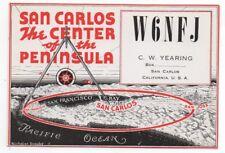 Vintage Short Wave Radio Station Postcard from San Carlos CA Station W6NFJ