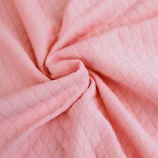 "60"" Diamond Quilt Knit Jacquard Knit Fabric by the Yard"