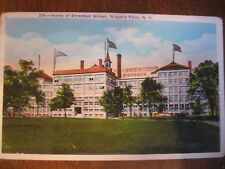 niagara falls ny postcard home of shredded wheat