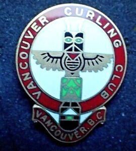 Vintage Vancouver Curling Club Pin - Totem Pole