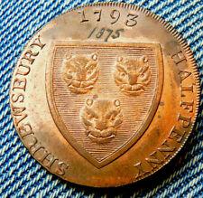 SHREWSBURY HALFPENNY TOKEN 1793